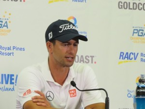Adam Scott appears to be in control of his defense of the Australian PGA Championship.