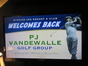 Golf groups, like PJ Vandewalle, keep coming back year-after-year to the Mission Inn Resort.