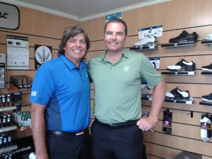 With Doug White, Titirangi 's Golf Director.