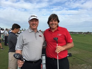 With Mike Rainwater, club fitter for Titleist, and the 915 D3 driver and 3-metal.