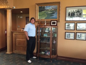 Lots of golf memorabilia displayed at the Mission Inn Resort. I liked this cabinet commemorating Gary Koch's career.