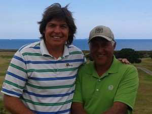 With Laurie Bell, member and ambassador of Waipu Golf Club and everything New Zealand!