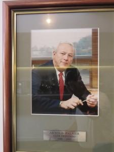 Mr. Palmer was the original Club President at Sanctuary Cove Golf & CC.