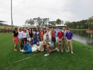 Tebow's foundation, his family and friends on the 17th tee.