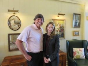 With Monique Harmer, the charming General Manager of the Intercontinental Sanctuary Cove Resort.