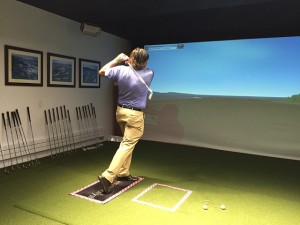 I gave it a shot on the simulator but it was not a very good shot. No hole-in-one. No Lexus for me.