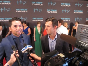 It was all fun and all for charity for Jason Day and Billy Horschel on the Red Carpet Friday night and on the Stadium Course on Saturday.