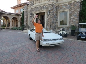 'Torch' (1992 Infiniti) and my 'Journey to Olympic Golf' began with a farewell party at TPC Sawgrass.