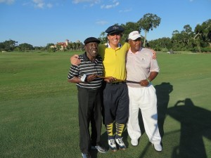 With Calvin Peete (L) and his good friend Arthur Johnson (R).