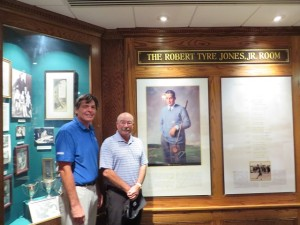 With our host Jim Teate in the Robert Tyre Jones, Jr. Room at AAC. Fabulous course, fabulous club!