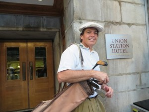 Excited to be leaving the Union Station Hotel to go play hickory golf at Glen Echo CC only because I knew I had one more night of luxury waiting for me when I was done!