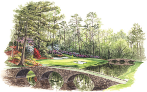 The 12th at Augusta National. Image is property of and used with permission of Linda Hartough.