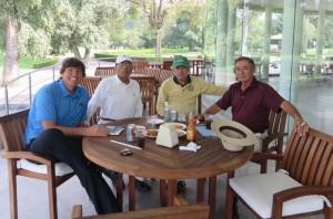 With my new friends at the Golf Club of Mexico—Simon Ramirez, Zavada Samuel Leon Gonzalez, and Rodolfo Cavallari ( L to R).