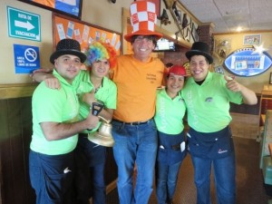 With my new friends at Chili's in Ciudad Victoria, Mexico.