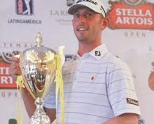 Danny Balin, the Champion of the 2015 Guatemala Stella Artois Open.   Photo Credit: Google Images & PGA TOUR Latinoamerica.