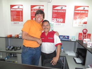 With Bridgestone Store Manager Fernando, happy that we have a solution!