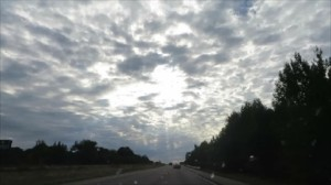 The incredible sky that driving through the Ozarks.