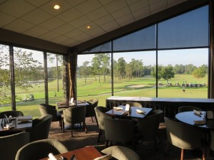 View of the golf course from the Cannongate Restaurant.