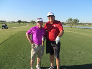 With golf writer Mike Bailey playing the Campus Course at Texas A&M.