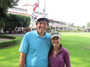 With Ampi Diaz after a great round of golf!