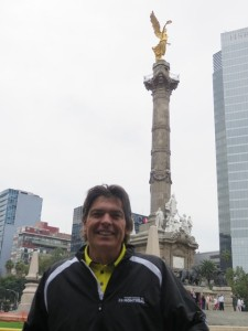 With the 'Angel of Independence.'