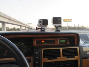 Torch, my 1992 Infiniti M30 has gone Go Pro on me, one pointing outside, one pointing inside at me... very interesting videos especially going through borders in Central America...