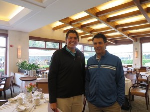 With Felipe Garcia Moreno inside the large and beautiful clubhouse.