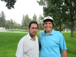 With Carlos Martinez, Head Golf Professional, and professional golfer!