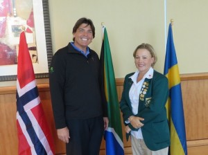 With Kim Williams, who has represented South Africa for 4 straight Spirits which means she has been the best women amateur in South Africa for the last 8 years!