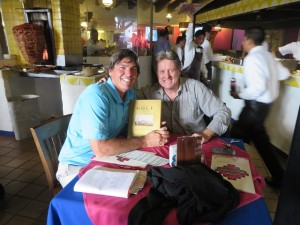 With Ian Gardner at Las Sifones. He gave me the Mexico Golf Centennial book and told me most of the history while we ate!
