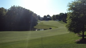 The par-5 15th hole is the start of the 'Green Mile.'