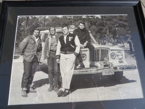 Charlie Epps and his buddies on their road trip down to South America in 1967.