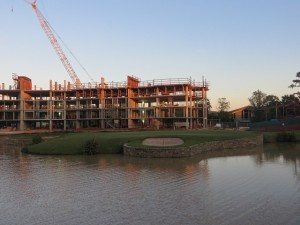 Now completed, a new wing of the resort ,overlooking the dramatic 18th green, was under construction when i visited in October 2013.