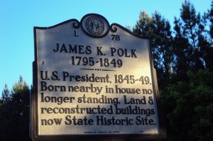 James K. Polk, the 11th President of the United States, was born nearby on November 2, 1795.