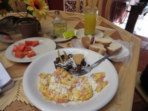 Breakfast for a King to start the day at Posada Santa Elena!