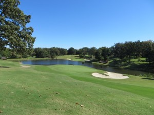 Here is the beautiful 16 green with the 17th behind it at Hardscrabble CC, Jack's home.