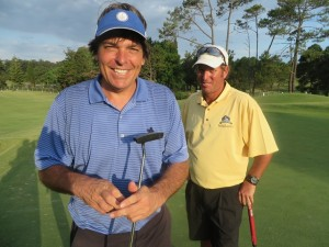 With Alvaro Canessa playing the Cantegril CC in Punta del Estes, Uruguay on New Year's Day 2014.
