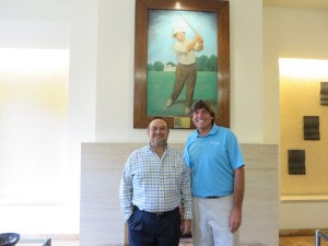 With member Mario Vivanco in front of the portrait of Willie Smith.