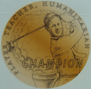 Byron Nelson's golf ball says it all—Player, Teacher, Humanitarian...