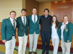 With the South African Team at The Spirit International.