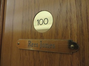 Architect Rees Jones Locker No. 100.
