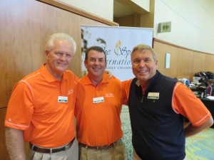 Tournament Director Eric Fredricksen (R) with Whisper Pines member volunteers Dan Spain (L) and Dennis Barnes (C).