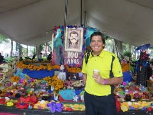In Coyoacan still celebrating Dia de Muertos!