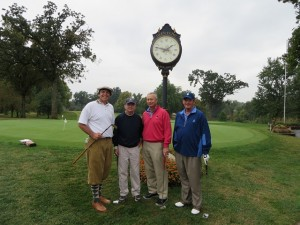 With future movie stars Ron Cobb, Mike Leuken and Jim Storey. We were on the golf course most of the day, played little golf and had a lot of fun!