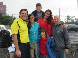 With Javier and Leticia and their awesome family!