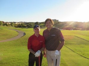 With my buddy Tom Horan basking in the sunlight of Byron Nelson at TPC Four Seasons Las Colinas.