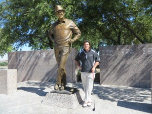 Standing in the presence of the great Byron Nelson!
