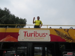 I liked being on the top of the Turibus!