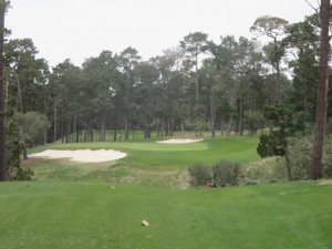The par-3 second hole on the new Poppy Hills Golf Course.