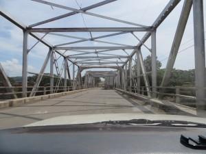 Crossing bridge from Pedro de Alvarado, Guatemala to La Hachadura, El Salvador over the Rio Paz.